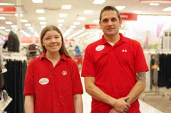 Supported employment participants of target in Target uniforms
