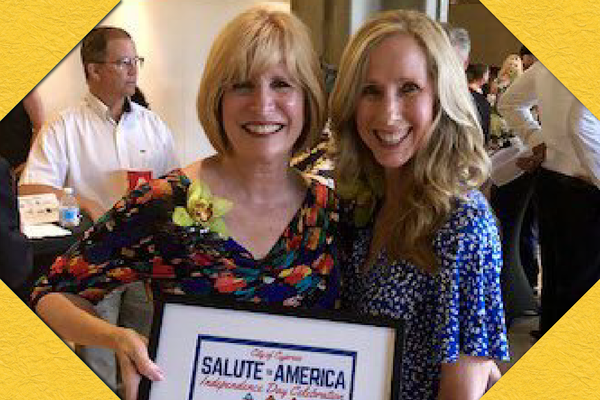 Cypress College President JoAnna Schilling, Ph.D., with City of Cypress Mayor Stacy Berry