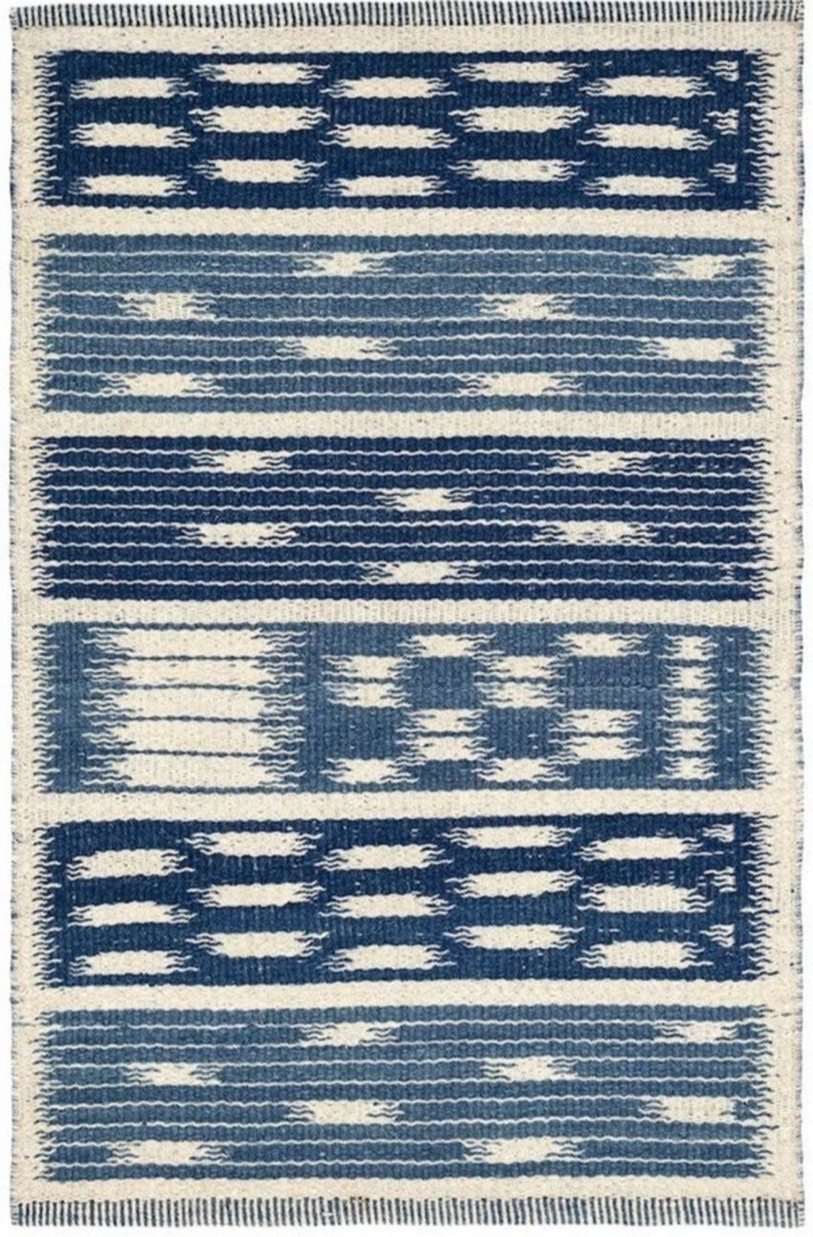 Kasuri wool rug designed by Mark Sikes