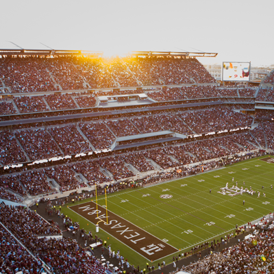 Promotional image of Kyle Field on a game day
