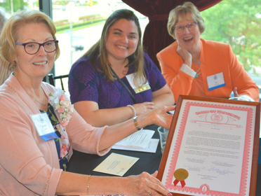 Long-time TrueNorth supporter, volunteer and champion Jelanie Bush is honored as Senior Volunteer of the Year