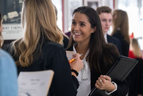 student interviewing for job at Career Fair