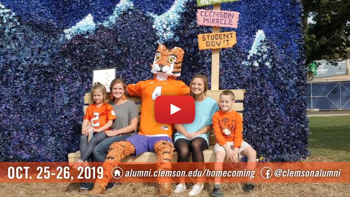 Homecoming 2019 - October 25-26, alumni.clemson.edu/homecoming @Clemsnalumni on Facebook