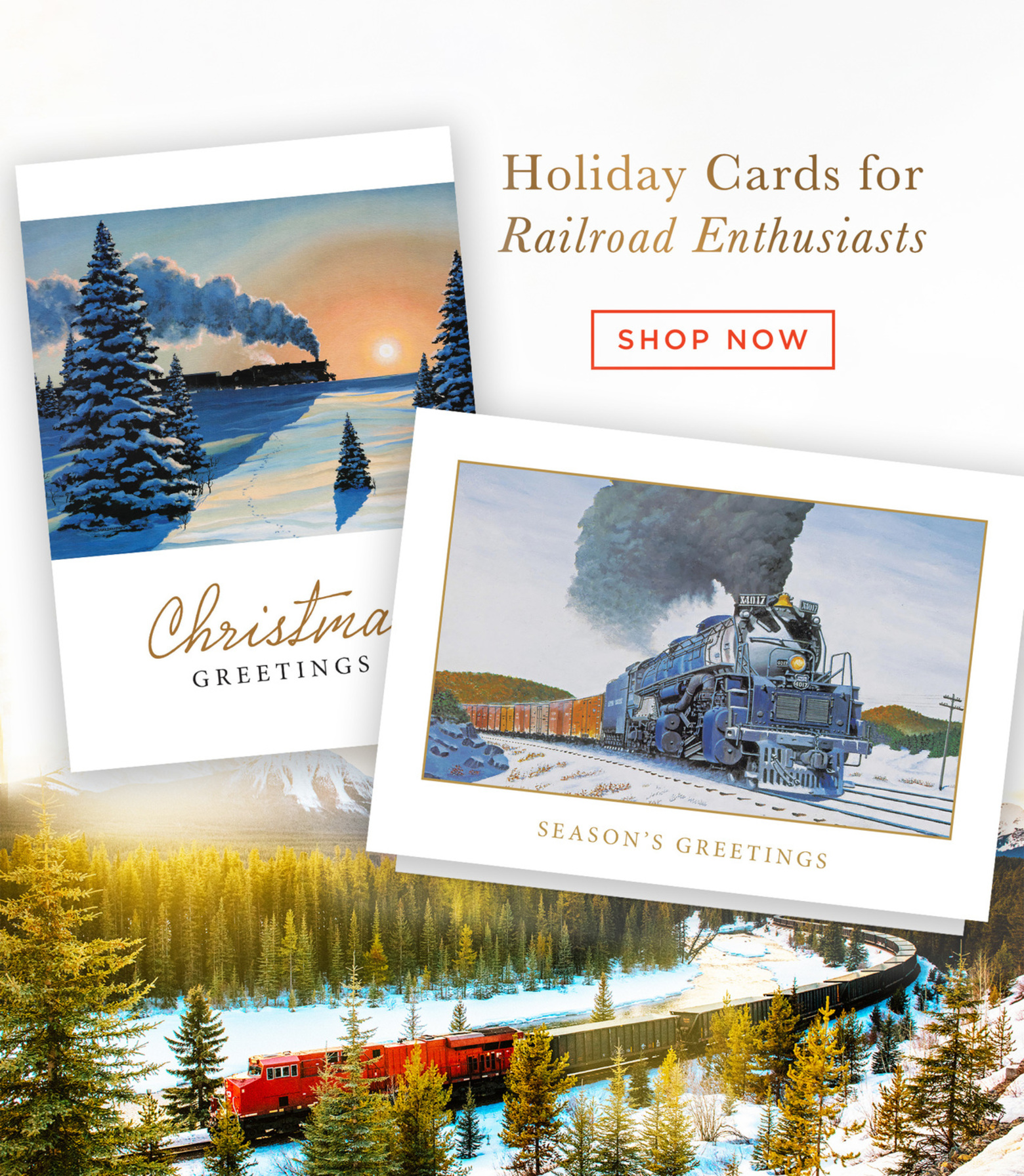 Holiday Cards fro Railroad Enthusiasts