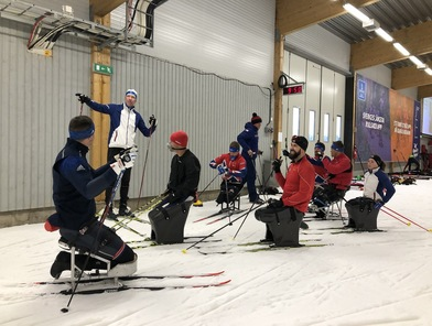 National team in the Torsby ski tunnel.