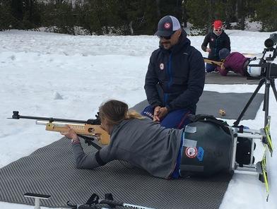 Biathlon practice in Bend.
