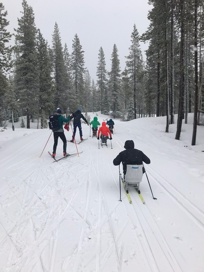 Snowy day at Bend camp