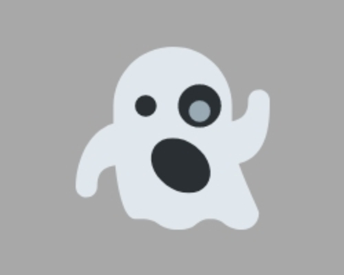 A small white ghost