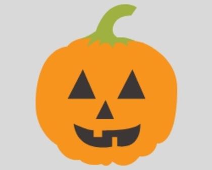 Orange, smiling jack-o-lanturn face