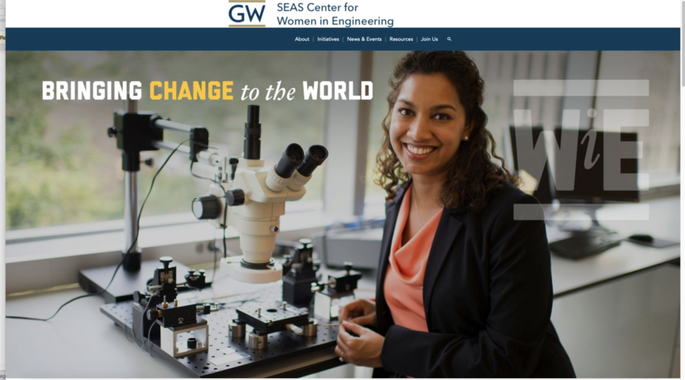 GW SEAS Center for Women in Engineering website at womenengineers.seas.gwu.edu
