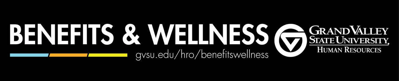 Benefits and Wellness, gvsu.edu/hro/benefitswellness, GVSU Human Resources logo