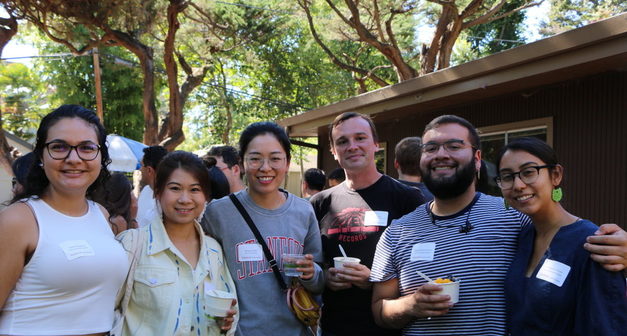 Master's students at the annual SGS ice cream social.