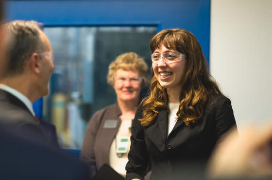 "Link to the Michigan Tech News article ""A Perfect Example: Alumna's Story Told at Round Table"""