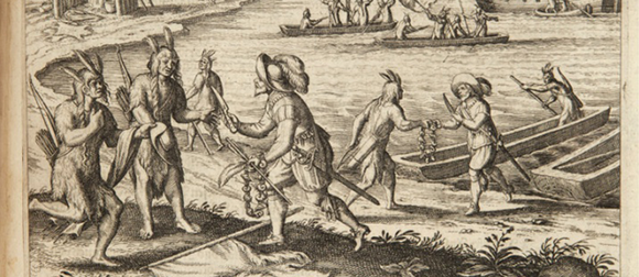 Illustration of the first Thanksgiving