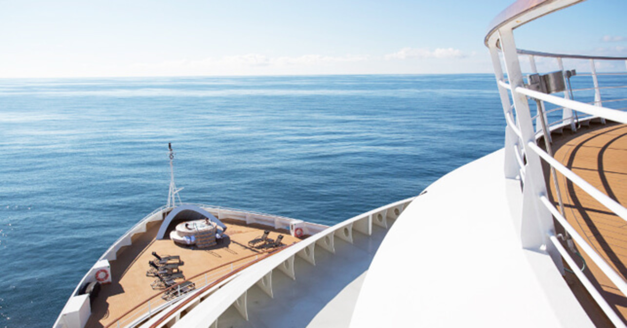 Seabourn Sojourn bow at sea
