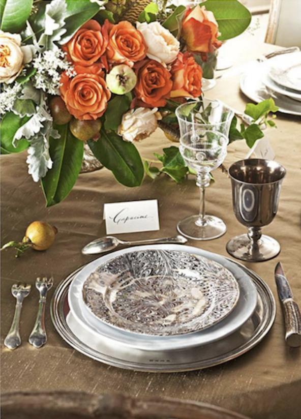 Cupacine De Wulf Gooding – Juliska holiday table setting