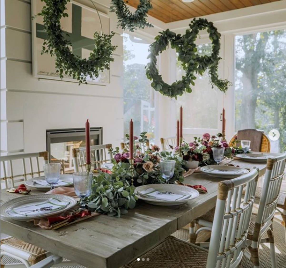 Juliska holiday rustic styled dinning room