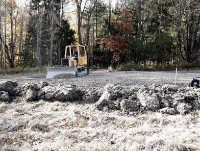 Leveling the gravel for garage foundation