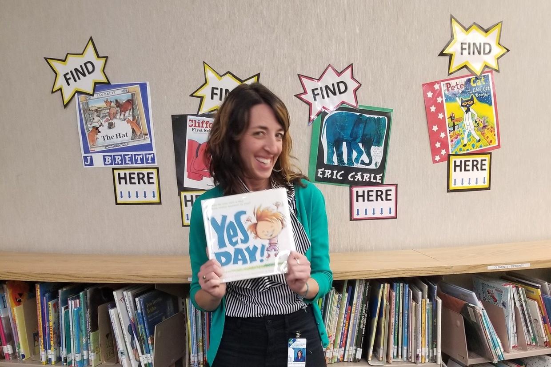 Cottonwood Creek Teacher Librarian Sarah Hammershaimb