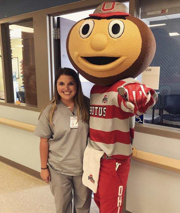 Elizabeth Hagloch, MS '20, who completed an externship at Ohio State Dodd Rehabilitation Hospital
