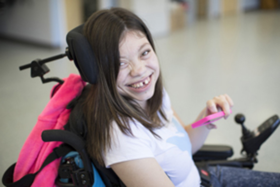 Young Woman who uses respite services.