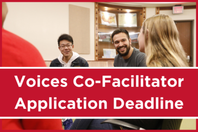 Voices Co-Facilitator Application Deadline