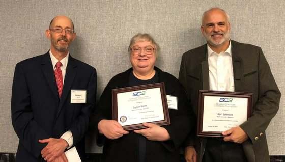 Image of Bob Davis, Susan Baim, and Kurt Johnson