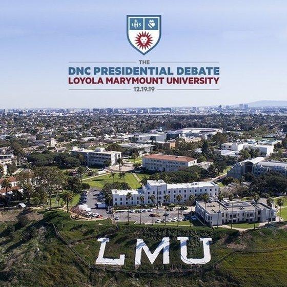 The DNC Presidential Debate at Loyola Marymount University on 12.19.19