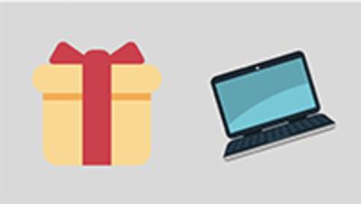 A present and computer graphic