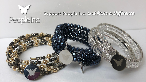 Three People Inc. Embrace the Difference multi band bracelets.