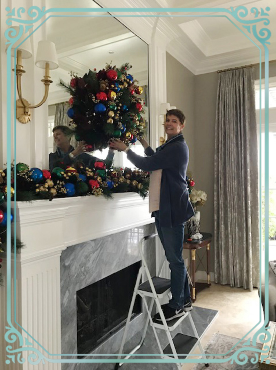 Lauren decorates for the holidays
