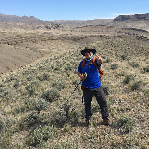 Martinez at field camp in Montana, Summer 2019. (Photo courtesy of Michael Martinez.)