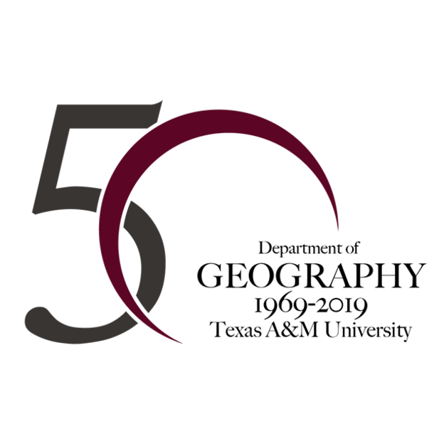 Department of Geography's 50th anniversary logo