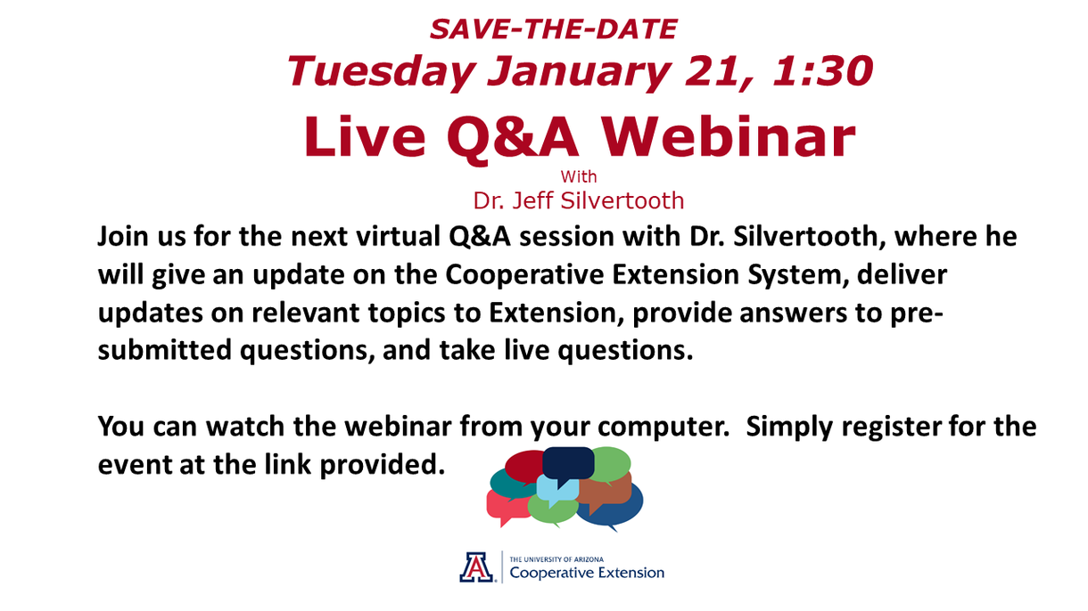 Save-the-Date Live Q&A Webinar