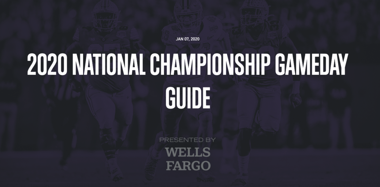 2020 National Championship Gameday Guide
