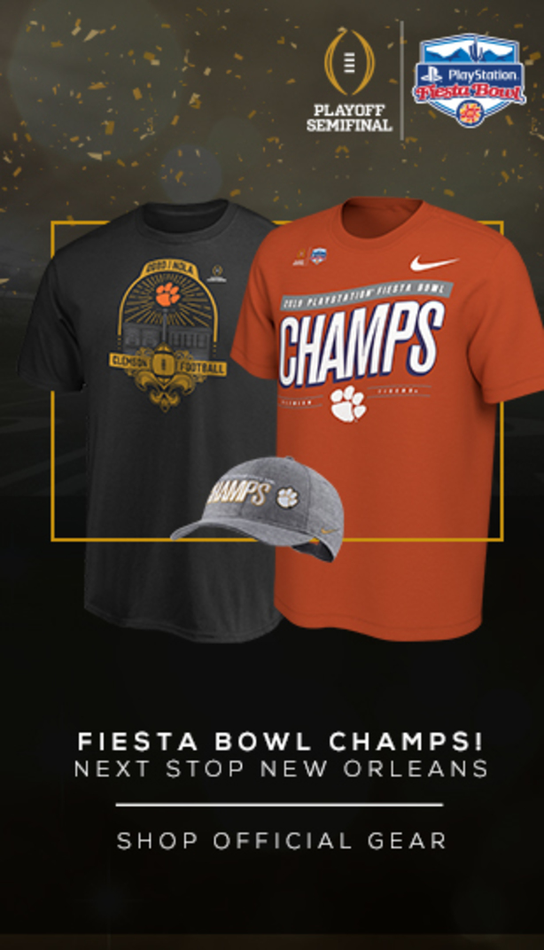 Fiesta Bowl Champs! New Stop New Orleans. Shop official Gear. College Football Playoff. Playstation Fiesta Bowl.