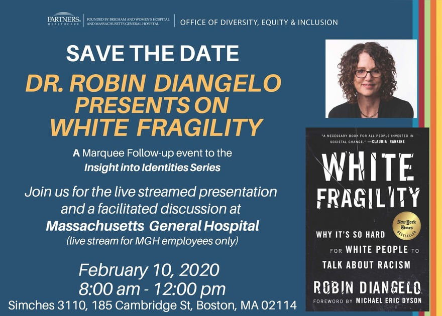 Save the Date: Dr. Robin DiAngelo