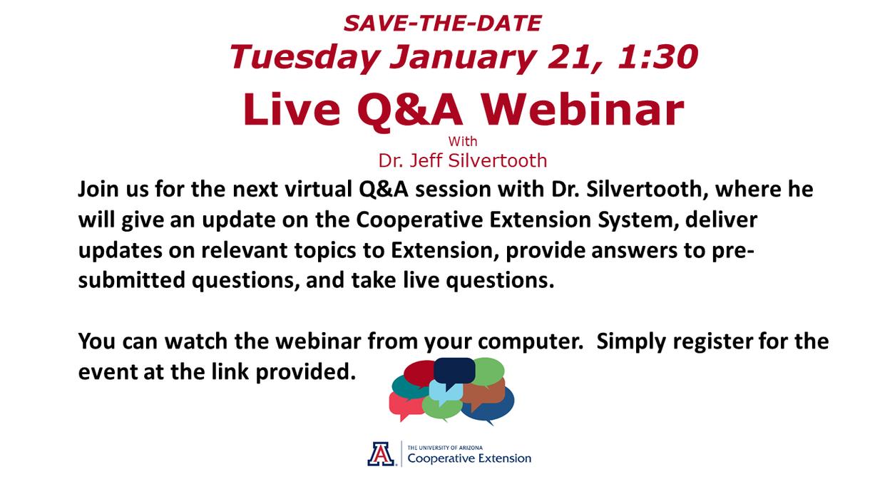 Save-the-Date Live Q&A Webinar