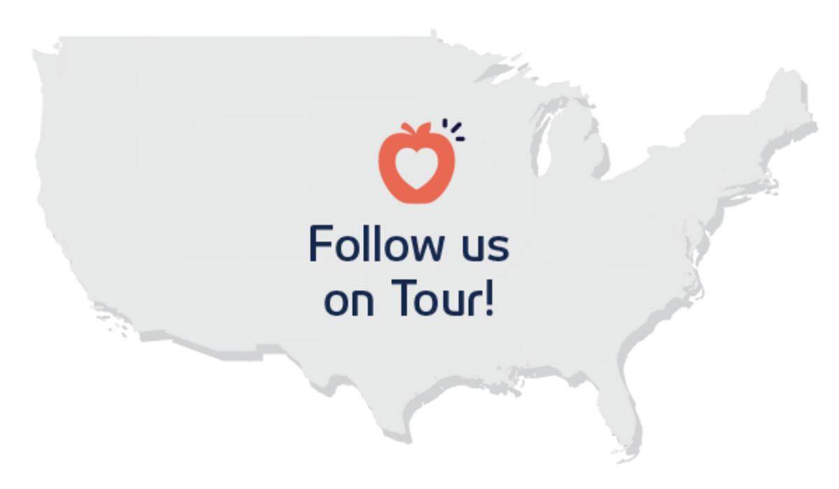 Follow us on tour!