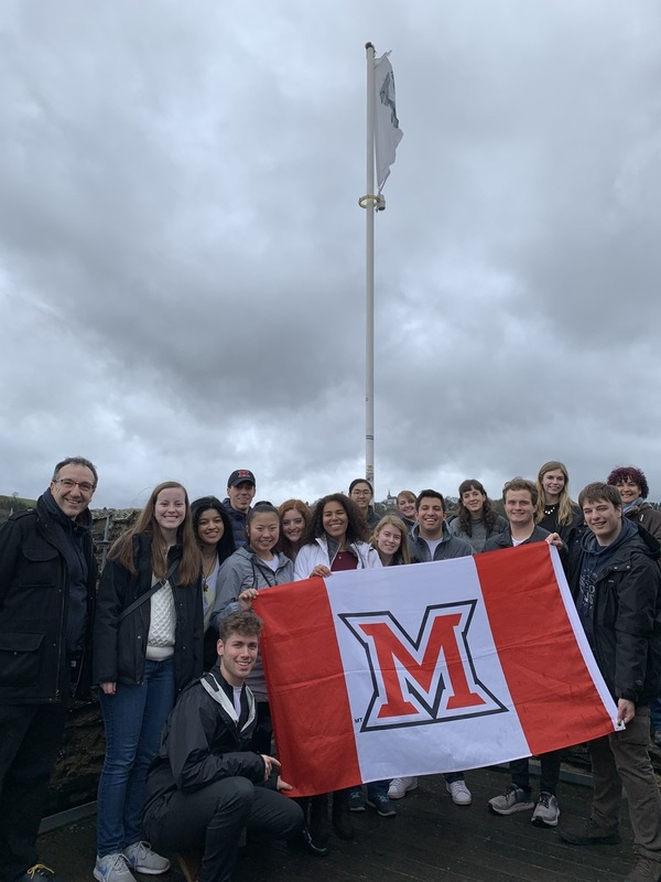 Students at Bourscheid Castle