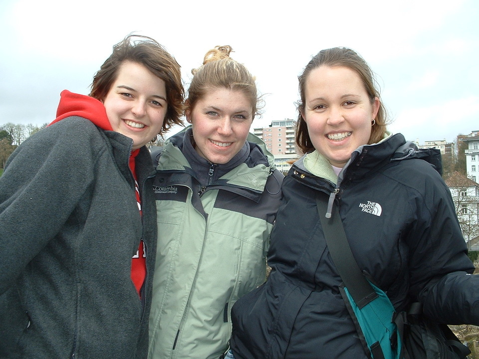 Erin Kearns and friends on Study Tour in 2004