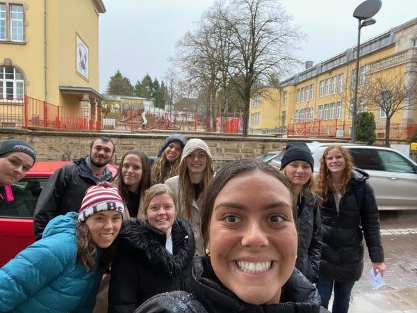 MUDEC students discovering Differdange