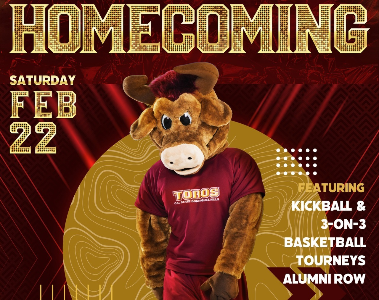 Homecoming poster with Teddy Toro.