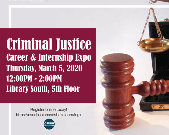 Criminal Justice Career & Internship Expo