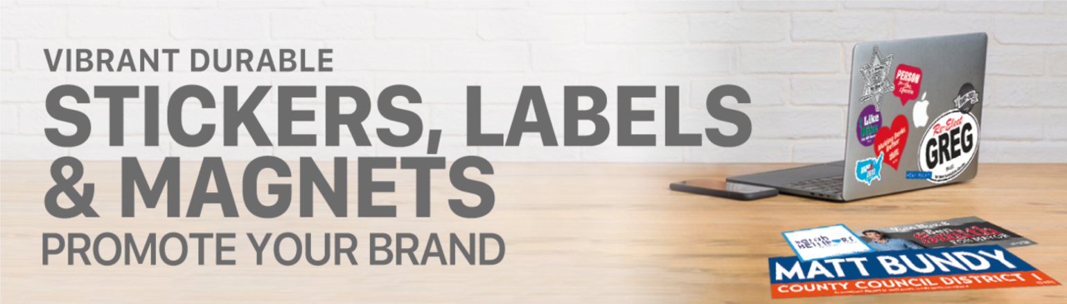 Stickers, Labels & Magnets to promote your brand!