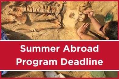 Summer Abroad Program Deadline