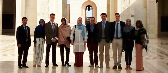 Group of students in Oman