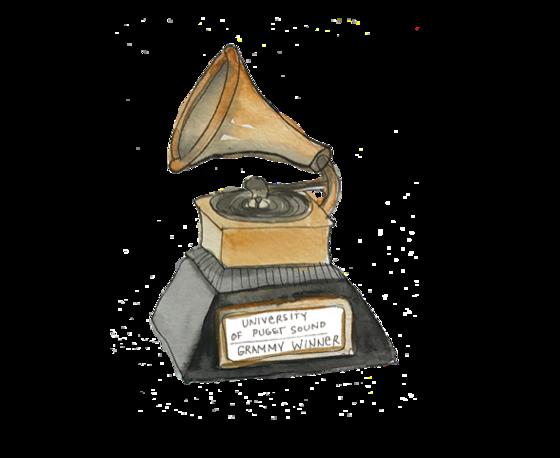 illustration of a Grammy Award