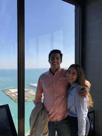 MUDEC student Santiago Puente with his sister