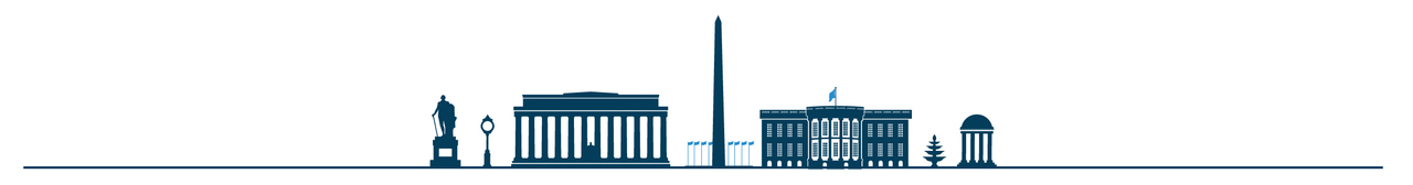 graphic depicting GW and DC landmarks